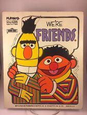 1976 VINTAGE PLAYSKOOL SESAME STREET BERT ERNIE WE'RE FRIENDS WOODEN PUZZLE