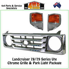 Grille Chrome fit Toyota Landcruiser 78 79 Series + Front Indicator Park Lights