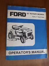 "Ford 42"" Rotary Mower For Lt Tractors Owner'S Manual Lawn Care Maintenance"