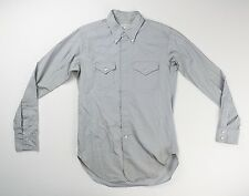 Engineered Garments Mens Gray Western Cotton Shirt Size M Medium