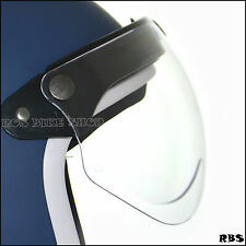 Jet fighter flip up lens shield for 3 snaps open face helmet Bell Shoei HJC