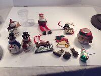 JUNK DRAWER VINTAGE CHRISTMAS MISC ORNAMENTS Magnets Candleholders