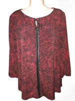 Liz Claiborne Women's Blouse Plus 1X 3/4 Sleeve Pullover Top