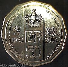 2003 50 cent Australian Coronation Golden Jubilee Coin:Unc
