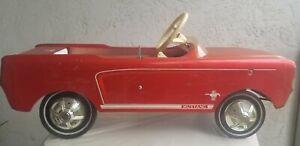 Original 1964/8 AMF Junior Kids Ford Midget Mustang Metal Pedal Car Unrestored C