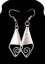 Style With French Hooks Earrings Beautiful Silver Wrapped Dangle
