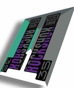 RockShox 35 Gold Decal Kit   Purple   MY20 (Model Year 2020)