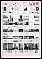 Ludwig Mies van der Rohe constructions et projets Architecture affiche poster dans le cadre