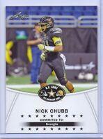 "(2)-NICK CHUBB 2014 LEAF ""1ST EVER PRINTED"" U.S. ARMY ALL-AMERICAN ROOKIE CARD!"
