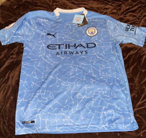 Manchester City 20/21 Home Jersey - Size L
