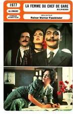FICHE CINEMA : LA FEMME DU CHEF DE GARE - Fassbinder1977The Stationmaster's Wife