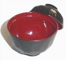 10x Japanese Plastic Lacquer Miso Soup Bowl w/Lid #2756 S-1904x10