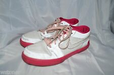 Air Jordan Retro Shoes V.1 Girls 7 Youth Medium White Leather Laces Athletic