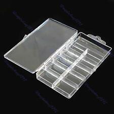 Empty Nail Art Tips Gems Rhinestone Storage Jewelry Case Box