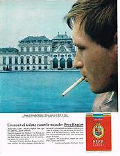 PUBLICITE ADVERTISING 034   1963   PEER EXPORT cigarettes  BELVERERE à VIENNE AU