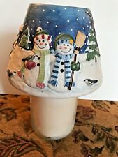 PAC Snowman Family Large Jar Candle Shade (Candle Not Included)