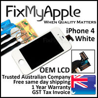 iPhone 4 White Front Glass Touch Screen OEM LCD Digitizer Assembly Replacement