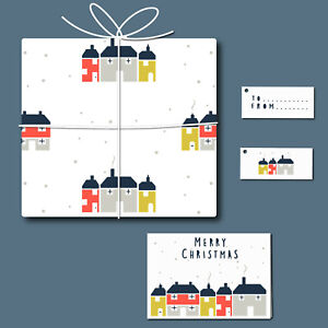Houses - Card, Tag & Wrap Stencil Set - Create your own stationery - 11030SET