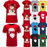Unisex Men Women Tees Merry Christmas Reindeer Santa Penguin Shirt Top Blouse XL