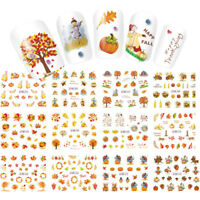 12 Patterns/Sheet  Maple Leaf Nail Art Water Transfer Decal Sticker Thanksgiving