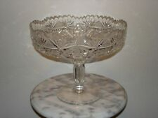 Brilliant Period Cut Glass Large Footed Fruit Bowl