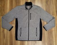 Men's Old Navy Active Sweater Fleece Gray Full Zip Jacket Size Large