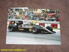 Ayrton SENNA - LOTUS Grand Prix Hungary F1 PostKarte/postcard