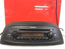 Fiat Punto Black Car Radio Stereo Cd Player Rare Mp3 Version With Code Blaupunkt