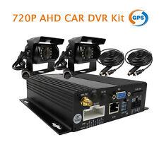 4CH 720P AHD GPS SD Car DVR Video Recorder  2 x Car Truck Rear View AHD Camera