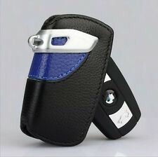 1Pc Blue Genuine Leather BMW Key Case Bag Sport Line Fits BMW 2 3 5Series X3