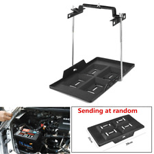 Automotive Marine Car Battery Tray Holder Kit Adjustable Clamp Width 135-200mm