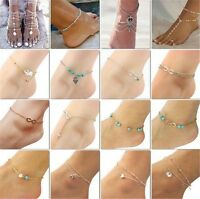 Women Beach Anklets Crystal Rhinestone Ankle Chains Foot Jewelry Anklets Gift