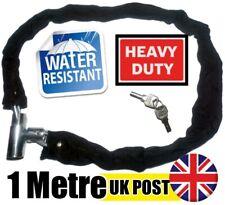 Bike Bicycle Motorbike Lock 2 key think chain Locks 3ft Steel Chain with cover