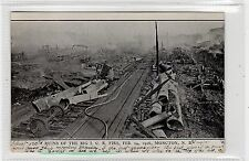 RUINS OF THE BIG I.C.R. FIRE, 1906, MONCTON: New Brunswick postcard (C28871)