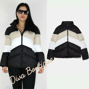 Zara AW 2019/20 Block Color Puffer Jacket Coat Size S Free P&P Brand New
