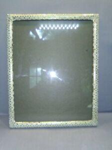 Vintage Brass Designed Picture Frame with red velvet backing 50s ,60s 8+10