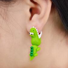 Handmade Polymer Clay Crocodile Stud Earring For Women 3D Earrings Hot Sale