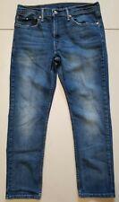 Levi's 511 Jeans Mens 34x30 Slim Fit Distressed Stretch Denim Blue Medium Wash