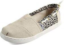 Toms Bimini Cheetah Metallic Linen Woven Slip On Shoes Nib Girls Sz 3Youth Eur35