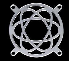 Atomic Computer Case Fan Grill 80mm New Modding Shiny Silver Metal Laser Cut