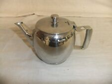 C4 Stainless Steel Teapot 1 pint 11.5cm H, traditional, catering, cafe 8B4C