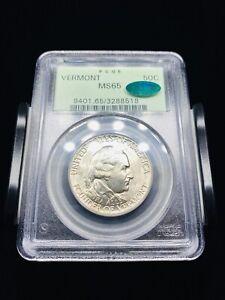1927 Vermont Commemorative Silver Half Dollar PCGS MS65 CAC OGH