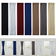 Upscale Rod Pocket Curtain Blackout Door Panel for Glass Door 25x72 inch