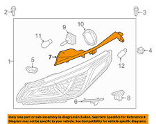 HYUNDAI OEM Sonata Headlight Head Light Lamp-Upper Bracket Right 92160C1000