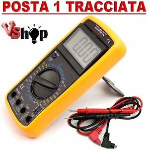 TESTER MULTIMETER MULTIMETRO DIGITALE PRO TESTER PROFESSIONALE CON CAVI DT-9205A