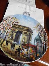 """Louis Dali """"L'Arc de Triomphe"""" collector plate, new in box[am2]"""