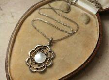 c1910 German 935 silver JUGENDSTIL / Art Nouveau pendant with pearl centre