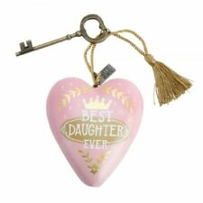 Demdaco Art Hearts Best Daughter Heart And Key Gift 1003480053