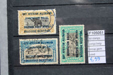 LOT STAMPS CONGO BELGIUM OCCUPATION GERMANY USED (F105051)