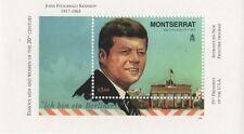 JFK 35th presidente de los Estados Unidos Nueva frontera Montserrat 1998 estampillada sin montar o nunca montada SELLO Sheetlet